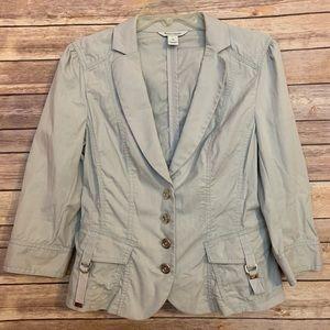 WHBM light gray blazer jacket  pocket detail sz 10